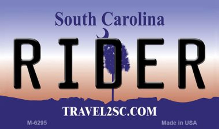 Rider South Carolina State License Plate Magnet M-6295