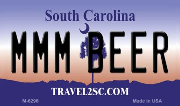 MMM Beer South Carolina State License Plate Magnet M-6296