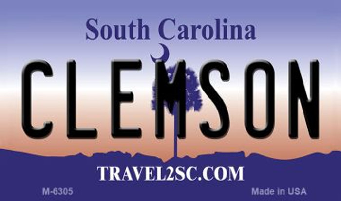 Clemson South Carolina State License Plate Magnet M-6305
