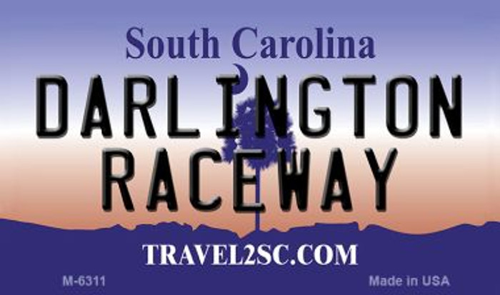 Darlington Raceway South Carolina State License Plate Magnet M-6311