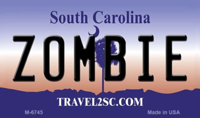 Zombie South Carolina State License Plate Magnet M-6745