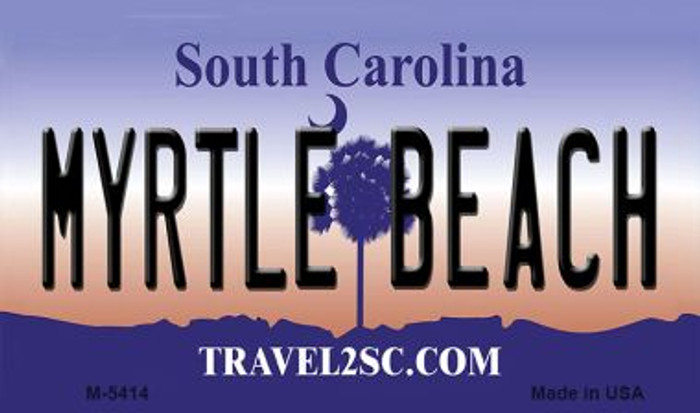 Myrtle Beach South Carolina State License Plate Magnet M-5414