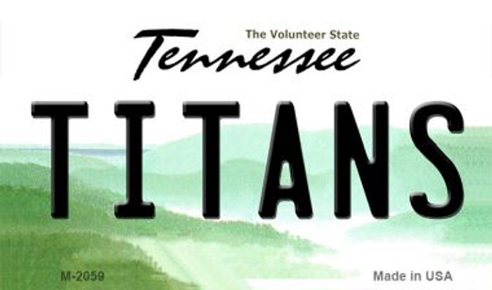 Titans Tennessee State License Plate Magnet M-2059