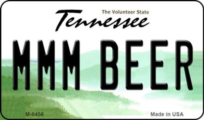 MMM Beer Tennessee State License Plate Magnet M-6456