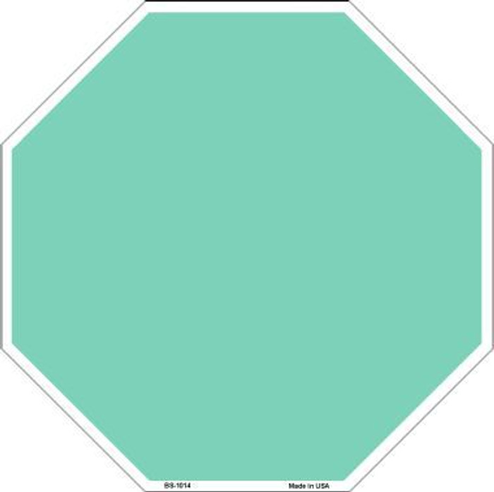 Mint Dye Sublimation Octagon Metal Novelty Stop Sign BS-1014