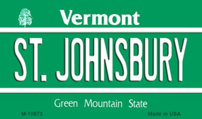 St Johnsbury Vermont State License Plate Novelty Magnet M-10673