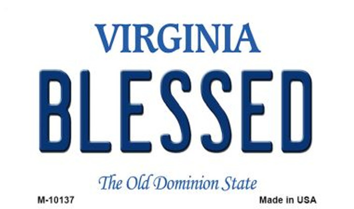Blessed Virginia State License Plate Magnet M-10137