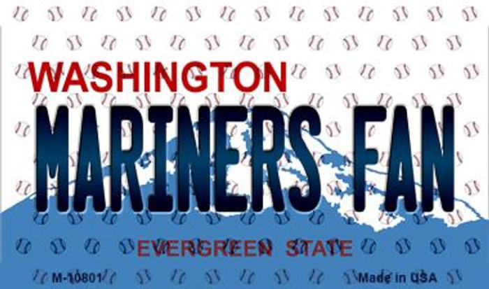 Mariners Fan Washington State License Plate Magnet M-10801