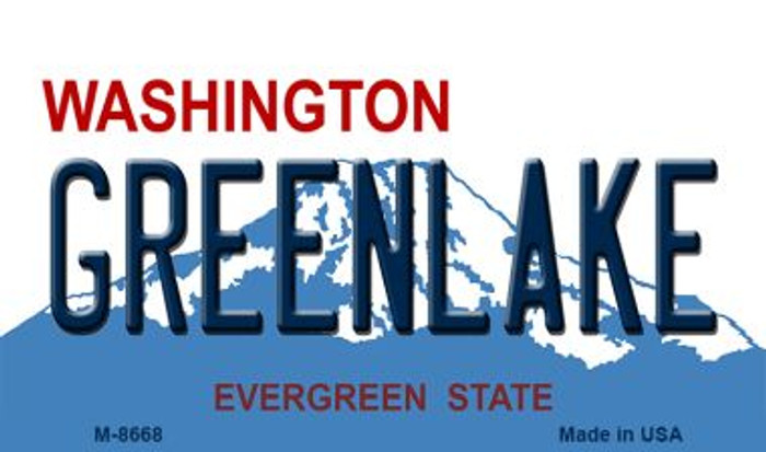 Greenlake Washington State License Plate Magnet M-8668