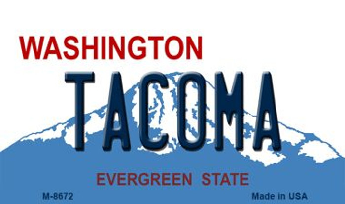 Tacoma Washington State License Plate Magnet M-8672