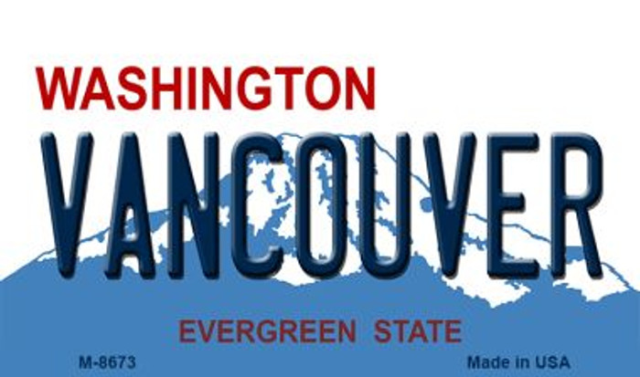 Vancouver Washington State License Plate Magnet M-8673