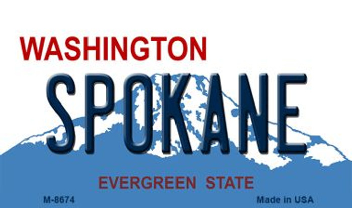 Spokane Washington State License Plate Magnet M-8674