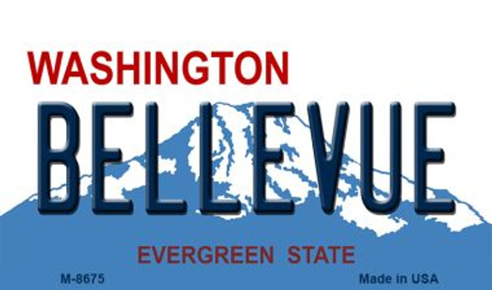 Bellevue Washington State License Plate Magnet M-8675