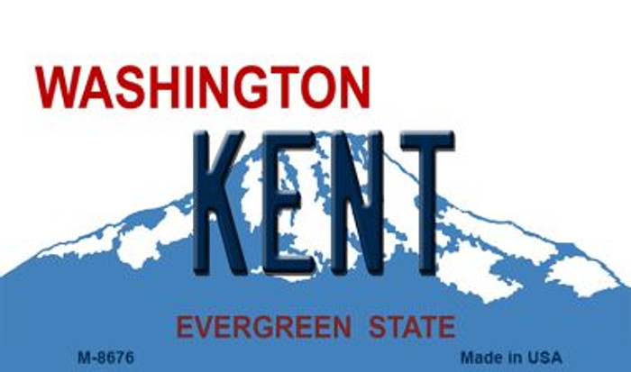 Kent Washington State License Plate Magnet M-8676
