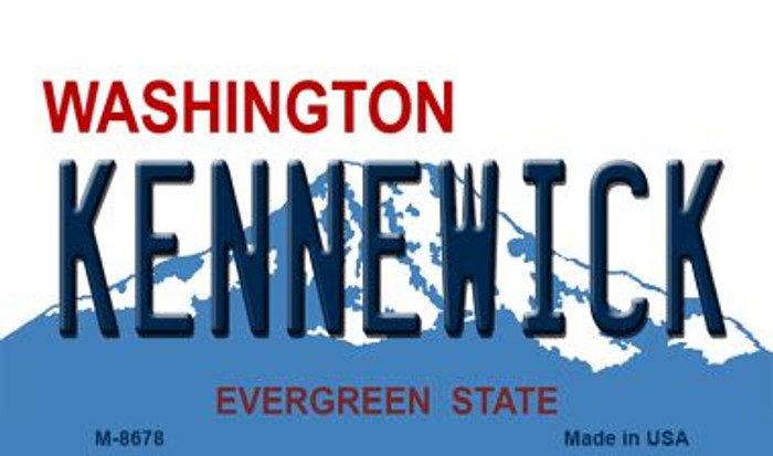 Kennewick Washington State License Plate Magnet M-8678