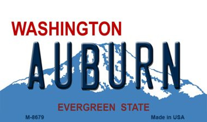 Auburn Washington State License Plate Magnet M-8679