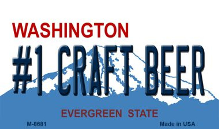 Number 1 Craft Beer Washington State License Plate Magnet M-8681