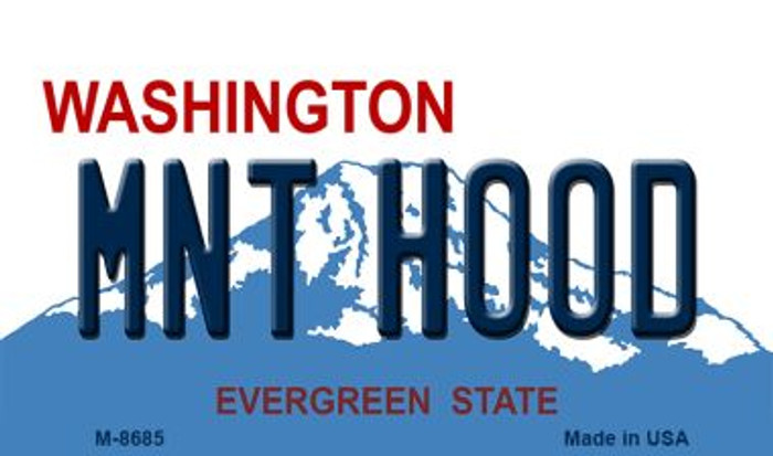 Mnt Hood Washington State License Plate Magnet M-8685