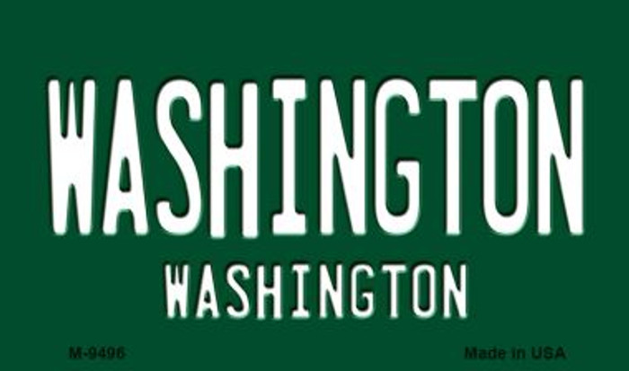 Washington Vintage Washington State License Plate Magnet M-9496
