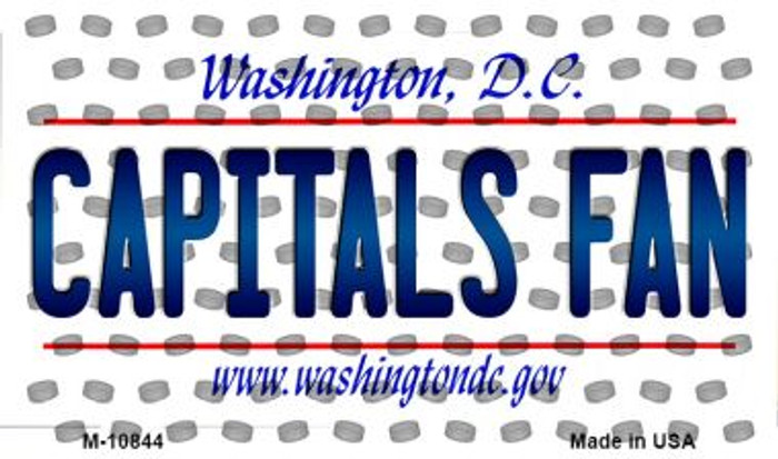 Capitals Fan Washington DC State License Plate Magnet M-10844