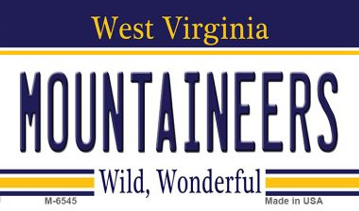 Mountaineers West Virginia State License Plate Magnet M-6545