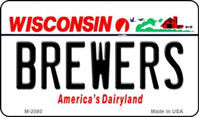Brewers Wisconsin State License Plate Magnet M-2080