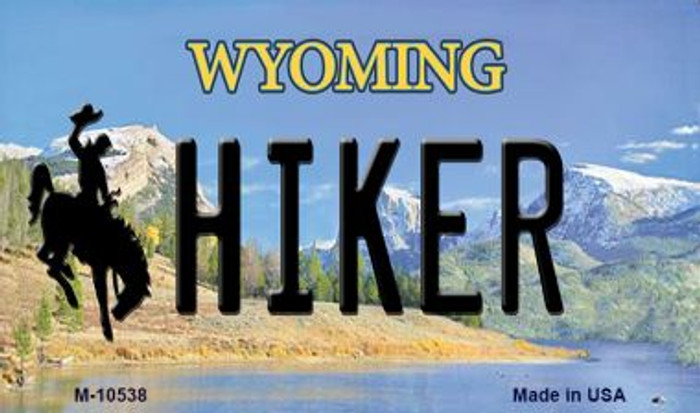Hiker Wyoming State License Plate Magnet M-10538