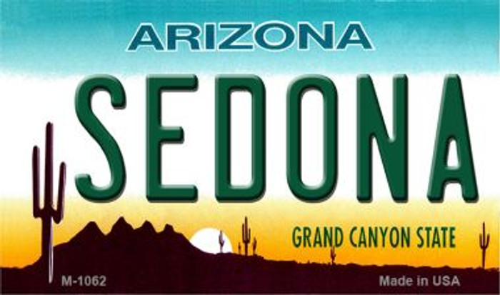 Sedona Arizona State License Plate Magnet M-1063