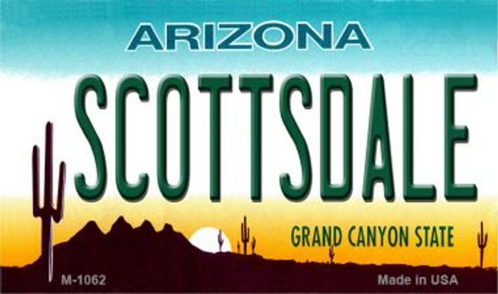 Scottsdale Arizona State License Plate Magnet M-1062