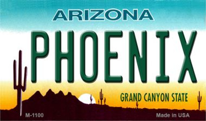 Phoenix Arizona State License Plate Magnet M-1100