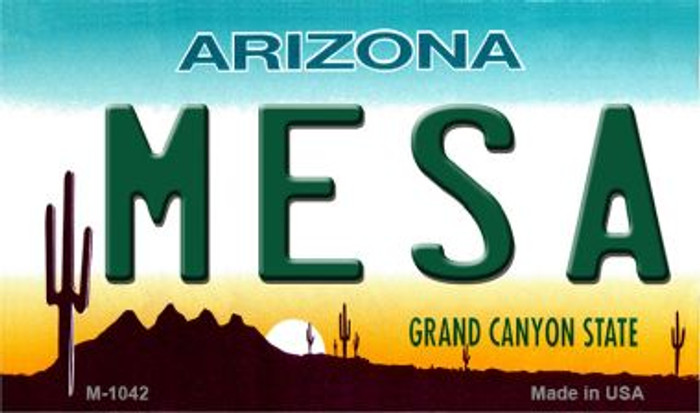 Mesa Arizona State License Plate Magnet M-1042