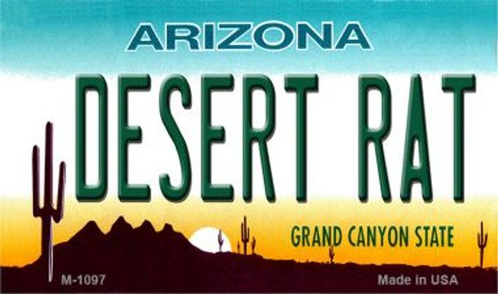 Desert Rat Arizona State License Plate Magnet M-1097