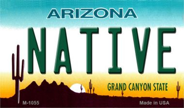 Native Arizona State License Plate Magnet M-1055