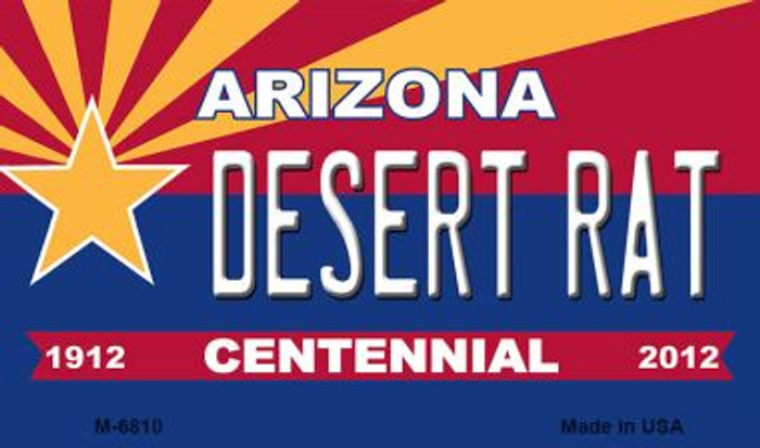Desert Rat Arizona Centennial State License Plate Magnet M-6810