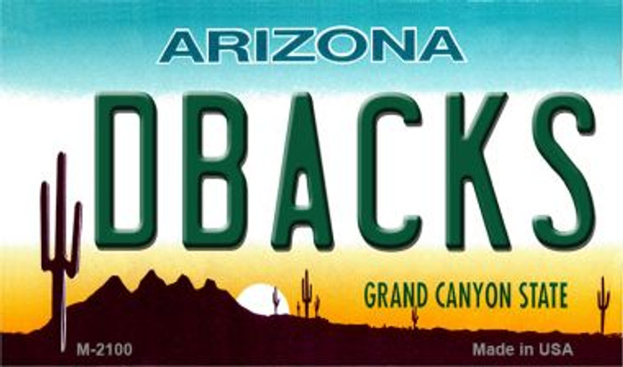 Dbacks Arizona State License Plate Magnet M-2100