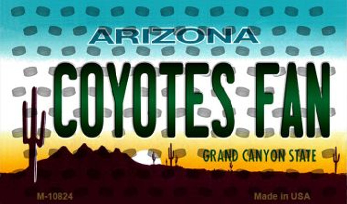 Coyotes Fan Arizona State License Plate Magnet M-10824