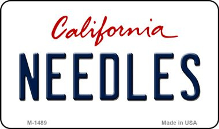 Needles California State License Plate Magnet M-1489