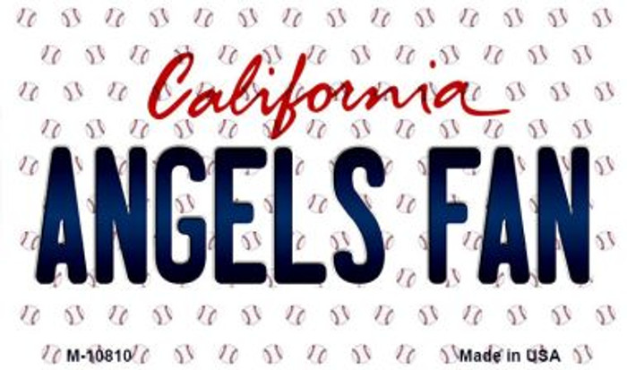 Angels Fan California State License Plate Magnet M-10810