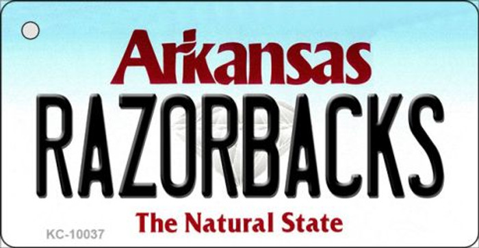 Razorbacks Arkansas State License Plate Key Chain KC-10037
