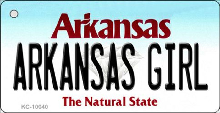 Arkansas Girl State License Plate Key Chain KC-10040