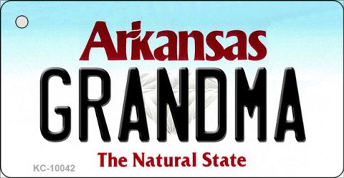 Grandma Arkansas State License Plate Key Chain KC-10042