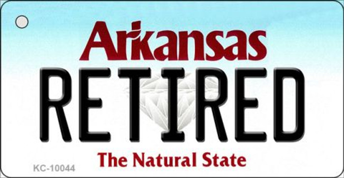 Retired Arkansas State License Plate Key Chain KC-10044