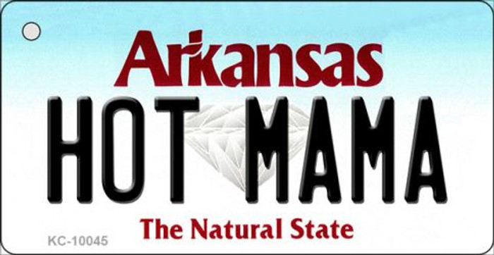 Hot Mama Arkansas State License Plate Key Chain KC-10045