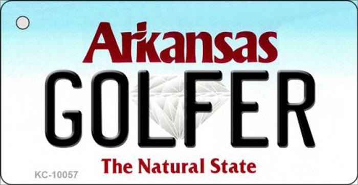 Golfer Arkansas State License Plate Key Chain KC-10057