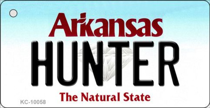 Hunter Arkansas State License Plate Key Chain KC-10058