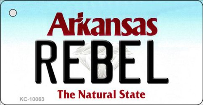 Rebel Arkansas State License Plate Key Chain KC-10063