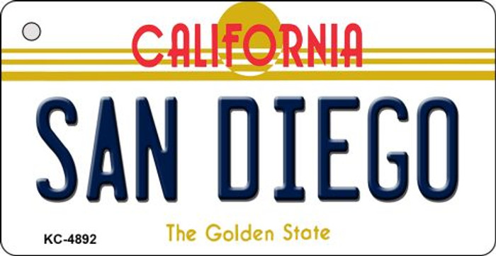 San Diego California State License Plate Key Chain KC-4892