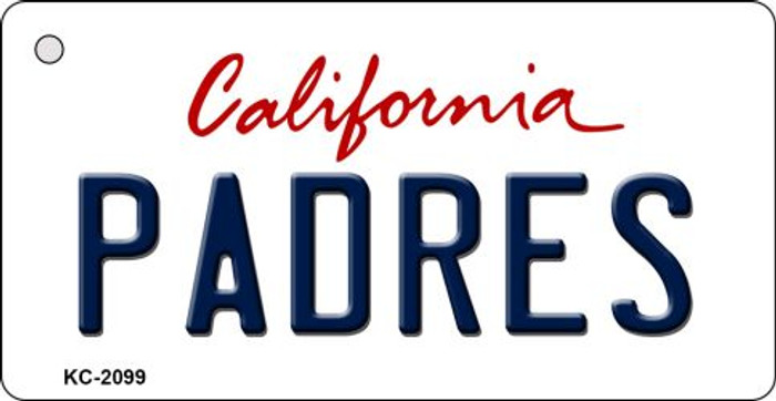 Padres California State License Plate Key Chain KC-2099