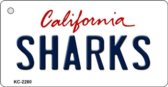 Sharks California State License Plate Key Chain KC-2280