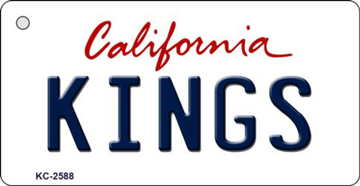 Kings California State License Plate Key Chain KC-2588